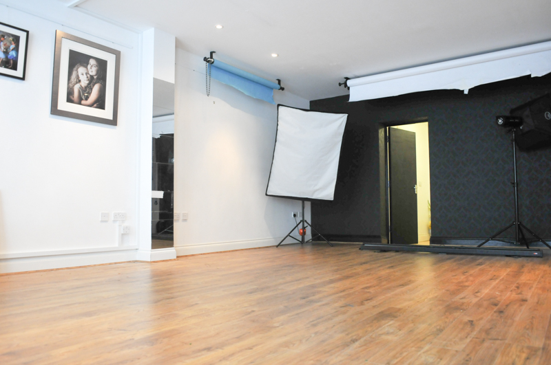 Interior shot of the Brighton Portrait Studio