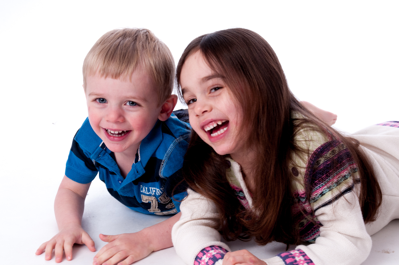 Happy kids family portraits Brighton